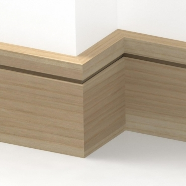Solid Ash Square Single Edge Skirting 3 metre