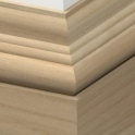 Solid Ash Tudor Skirting 3 metre