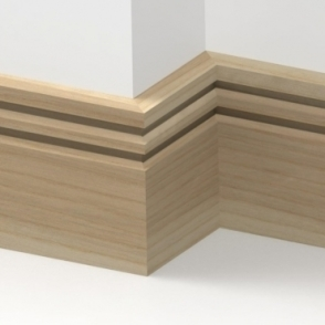 Solid Ash Wells Skirting 3 metre