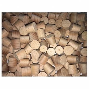 Solid Beech 12mm Tapered Pellets