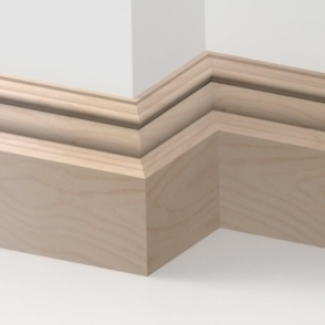 Solid Beech Bromley Skirting 3 metre