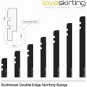 Solid Beech Bullnose Double Edge Skirting 3 metre
