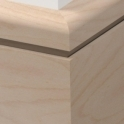 Solid Beech Bullnose Single Edge Skirting 3 metre