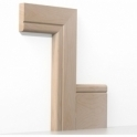 Solid Beech Bullnose Single Groove Architrave Sets