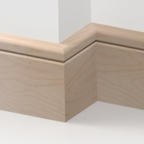 Solid Beech Bullnose Single Groove Skirting 3 metre