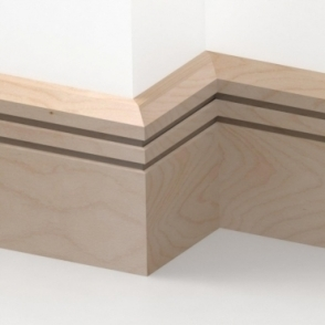 Solid Beech Chamfered Double Edge Skirting 3 metre