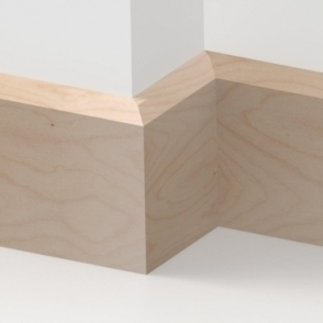 Solid Beech Chamfered Skirting 3 metre