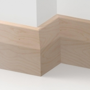 Solid Beech Long Chamfer Skirting 3 metre