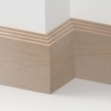 Solid Beech Mini Step Skirting 3 metre