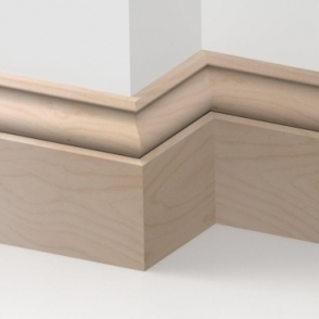 Solid Beech Ogee Skirting 3 metre