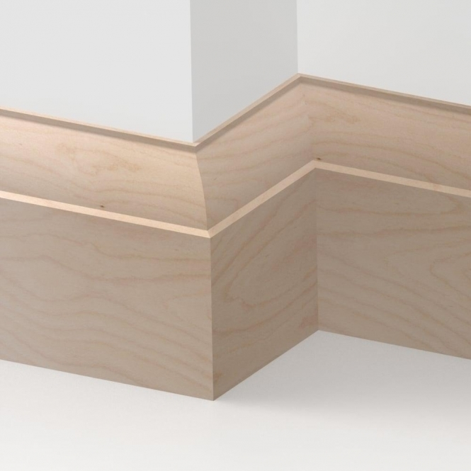 Solid Beech Ovolo Skirting 3 metre