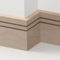 Solid Beech Square Double Edge Skirting 3 metre