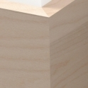 Solid Beech Square Edge Skirting 3 metre