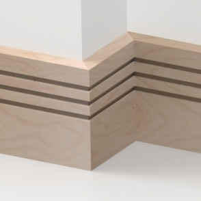 Solid Beech Square Triple Edge Skirting 3 metre