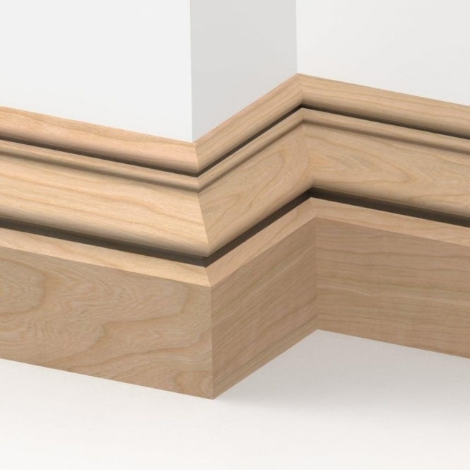 Solid Cherry Buckingham Skirting 3 metre