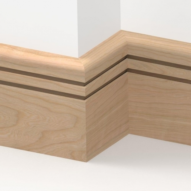 Solid Cherry Bullnose Double Edge Skirting 3 metre