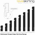 Solid Cherry Bullnose Single Edge Skirting 3 metre
