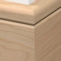 Solid Cherry Bullnose Single Groove Skirting 3 metre