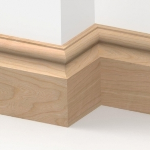 Solid Cherry Cambridge Skirting 3 metre