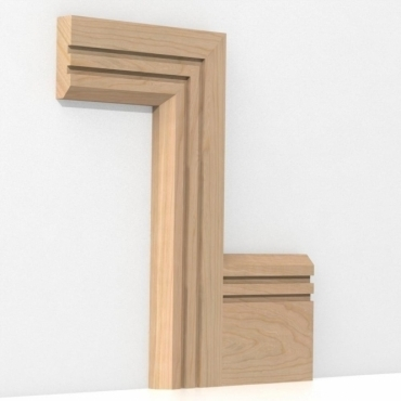 Solid Cherry Chamfered Double Edge Architrave Sets