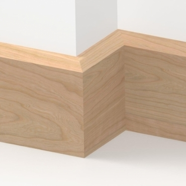 Solid Cherry Chamfered Skirting 3 metre