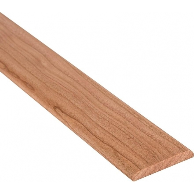 Solid Cherry Flat Cover Beading Threshold Strip 100MM x 7MM