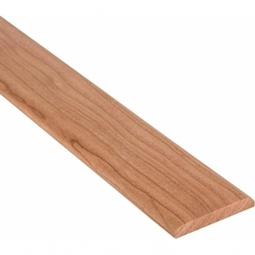 Solid Cherry Flat Cover Beading Threshold Strip 80MM x 7MM