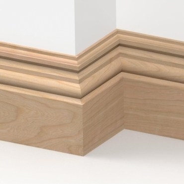 Solid Cherry Heritage Skirting 3 metre