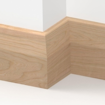 Solid Cherry Long Chamfer Skirting 3 metre