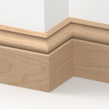 Solid Cherry Ogee Skirting 3 metre