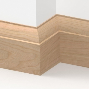 Solid Cherry Ovolo Skirting 3 metre