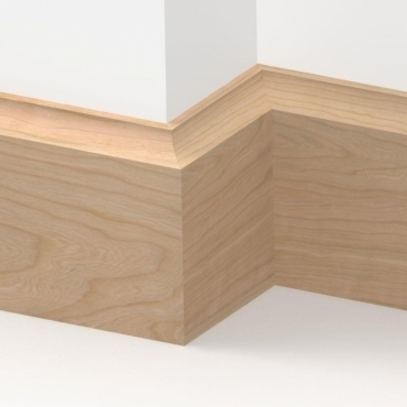 Solid Cherry Scotia Skirting 3 metre