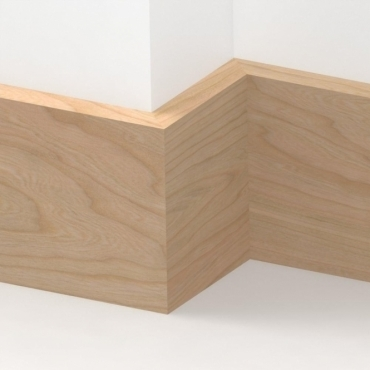 Solid Cherry Square Edge Skirting 3 metre