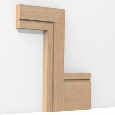 Solid Cherry Square Single Edge Architrave Sets