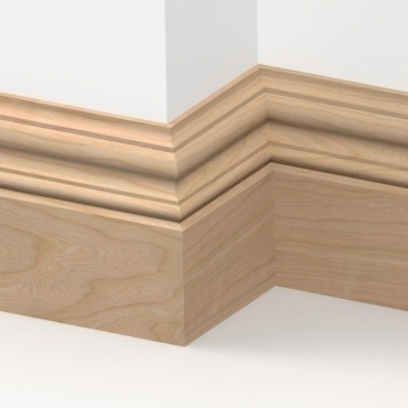 Solid Cherry Windsor Skirting 3 metre