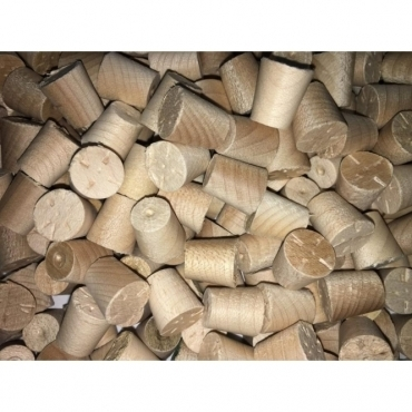 Solid Maple 10mm Tapered Pellets