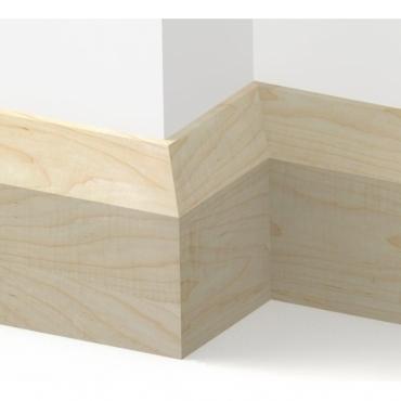 Solid Maple Bevel Skirting 3 metre