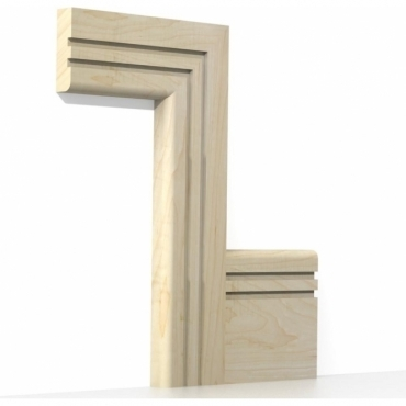 Solid Maple Bullnose Double Edge Architrave Sets