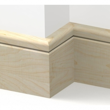 Solid Maple Bullnose Single Groove Skirting 3 metre