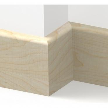 Solid Maple Bullnose Skirting 3 metre