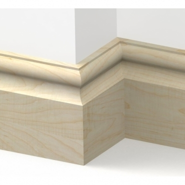 Solid Maple Cambridge Skirting 3 metre
