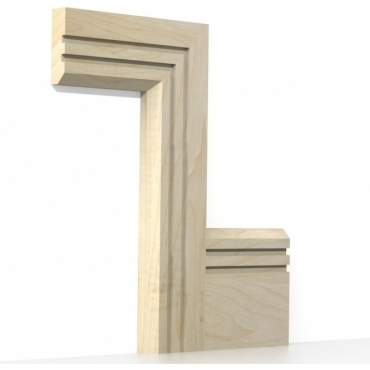 Solid Maple Chamfered Double Edge Architrave Sets