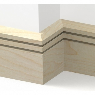 Solid Maple Chamfered Double Edge Skirting 3 metre
