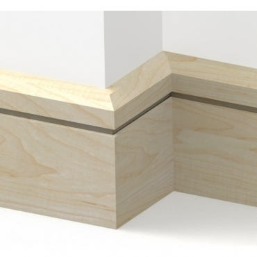 Solid Maple Chamfered Single Edge Skirting 3 metre