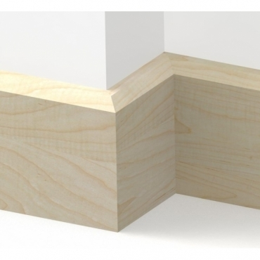 Solid Maple Chamfered Skirting 3 metre