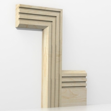 Solid Maple Chamfered Triple Edge Architrave Sets