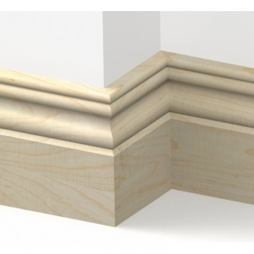 Solid Maple Cromwell Skirting 3 metre