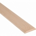 Solid Maple Flat Cover Beading Threshold Strip 80MM x 7MM
