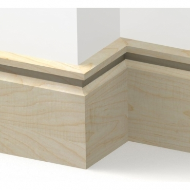 Solid Maple Flute Skirting 3 metre