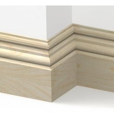 Solid Maple Heritage Skirting 3 metre
